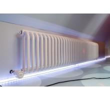 Радиатор трубчатый КЗТО РС 2 горизонтальный, высота 340, глубина 100, белый