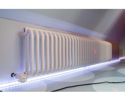 Радиатор отопления трубчатый горизонтальный КЗТО РС 2, высота 340, глубина 100, белый