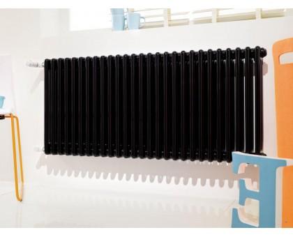 Радиатор Irsap Tesi трёхтрубчатый 565мм высота, боковое подключение (T30), чёрный RAL 9005
