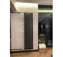 Радиатор трубчатый КЗТО РС 2 вертикальный, высота 1784, глубина 100, чёрный