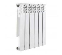 Радиатор алюминиевый 500 мм ROMMER Optima 6 секций (RAL9016)