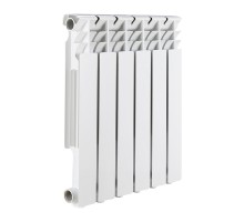 Алюминиевый радиатор отопления ROMMER Optima 500 8 секций (RAL9016)