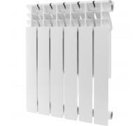 Алюминиевый радиатор отопления  ROMMER Plus 500 6 секций (RAL9016)