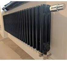 Радиатор стальной Zehnder Charleston 3030 нижнее подключение ТВВ, чёрный