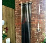 Стальной трубчатый радиатор Zehnder Charleston 2180 боковое подключение, прозрачный лак (Techno Line)