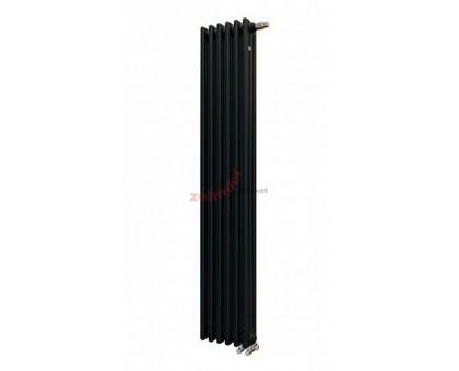 Трубчатый радиатор отопления Zehnder Charleston 3180 вертикальный с нижним подключением ТВВ, чёрный