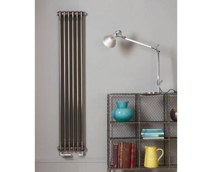 Трубчатый радиатор отопления Zehnder Charleston 3180 вертикальный с нижним подключением ТВВ, прозрачный лак (Techno Line)