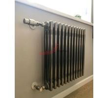 Стальной трубчатый радиатор Zehnder Charleston 3057 боковое подключение, прозрачный лак (Techno Line)