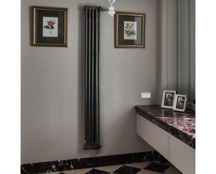 Радиатор трубчатый Zehnder Charleston 2180 вертикальный нижнее подключение ТВВ, прозрачный лак (Techno Line)