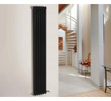 Трубчатый радиатор отопления Zehnder Charleston 3180 вертикальный боковое подключение, чёрный