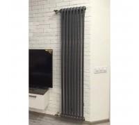 Радиатор трубчатый вертикальный Arbonia 2180 боковое подключение, цвет RAL 7016