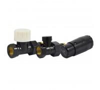 Комплект прямой Черный DN 15 GZ1/2 x GW1/2 с головкой Мини M30x1,5