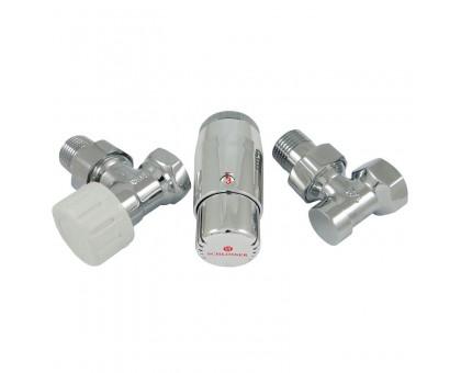 Комплект угловой Хром DN 15 GZ1/2 x GW1/2 с головкой Мини M30x1,5