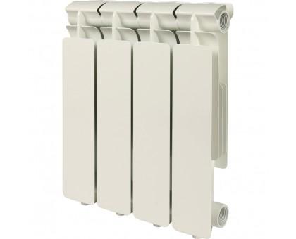 Радиатор алюминиевый 4 секции STOUT Bravo 350 боковое подключение