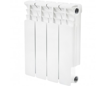 STOUT Space 350 4 секции биметаллический радиатор боковое подключение